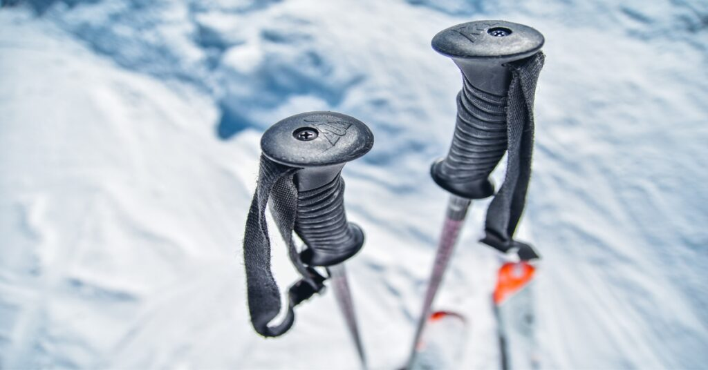 A pair of trekking poles