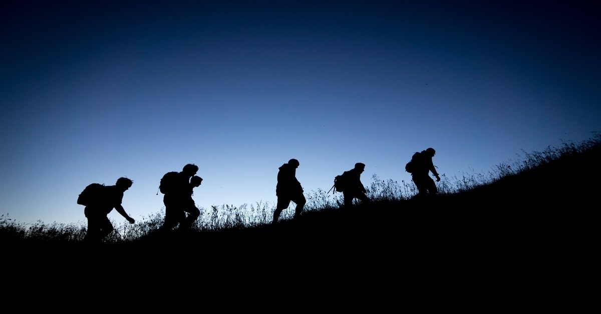 hikers at a night hike
