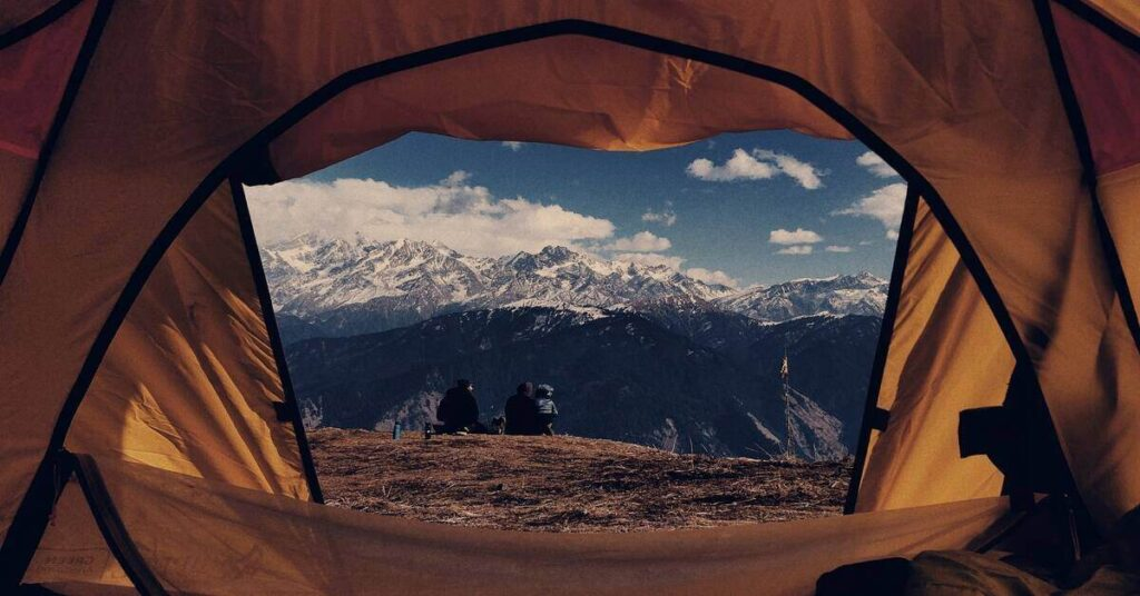 tent at a trail